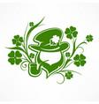 leprechaun lucky symbols vector image