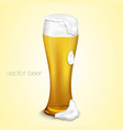 light beer with the foam vector image vector image