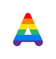 logo letter a rainbow vector image
