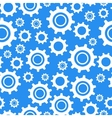Many different types cogwheel white icons on blue vector image vector image