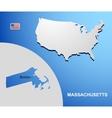 Massachusetts vector image