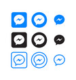 messenger social media icons vector image vector image