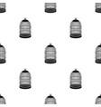 Metal cage for birdspet shop single icon in black