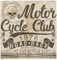 motorcycle gasoline labet tee graphic design vector image vector image