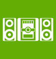 music center icon green vector image vector image