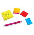 Pen and stickers vector image vector image