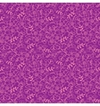 Purple florals seamless pattern background vector image