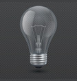realistic 3d light bulb vector image