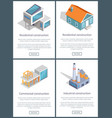 residential and industrial page vector image