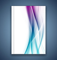 Satin bright blue smooth soft lines folder cover vector image vector image