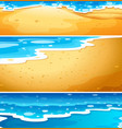 set of beach water scenes vector image