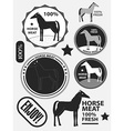 Set of logo horse meat horseflesh labels and vector image vector image