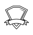 shield premium badge ribbon outline empty vector image vector image