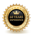 Sixty Years Experience Badge vector image vector image