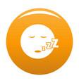 sleep smile icon orange vector image