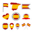 spain flag icons set spanish flag symbol vector image vector image