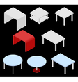 Tables isometric vector image