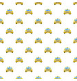 taxi car pattern vector image