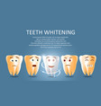 teeth whitening poster or banner template vector image vector image