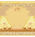Traditional Horus Eye and camel caravan in wild vector image vector image