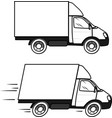 truck goes right image on a transparent vector image vector image