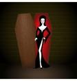 vampire woman vector image vector image