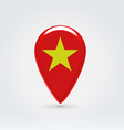 Vietnamese icon point for map vector image vector image