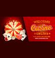 welcome online casino horizontal banner vector image