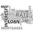 which mortgage is best for you text word cloud vector image vector image