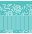 Greeting card with floral ornament vector image