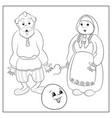 russian folk tale about kolobok coloring vector image