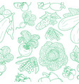 seamless pattern of various doodles vector image