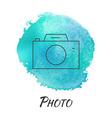 Photo Camera Watercolor Concept vector image