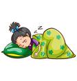 A girl sleeping soundly vector image