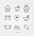 baboy and girl logo set vector image vector image
