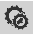 black cogs gears vector image vector image