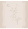 border vintage flower beige vector image