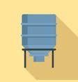 bread flour tank icon flat style vector image