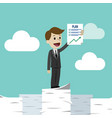 businessman or manager has a plan job is finished vector image