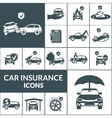 Car Insurance Icons Black vector image vector image