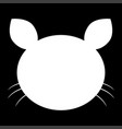 cat head the white color icon vector image vector image