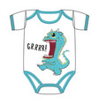 clothes of cute cartton monster alien dinosaur vector image vector image