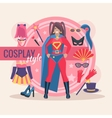 Cosplay Character Pack For Girl vector image vector image