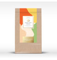 craft paper bag with hazelnut chocolate label vector image vector image