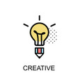 creative graphic icon vector image vector image