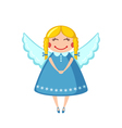 Cute angel icon in flat style vector image vector image