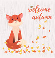 Cute cartoon fox card