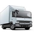european delivery truck vector image vector image