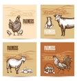 Farm Cards Set vector image vector image