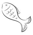 fish sketch or color vector image vector image